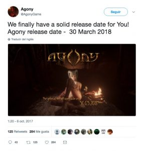 Agony announces its official release date: 30th of March 2018