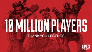 Apex reaches one million concurrents players and 10 million overall players in 72 hours