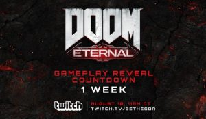 Bethesda sets the date for Doom Eternal gameplay reveal: August 10th