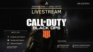 Call of Duty: Black Ops 4 will host a stream tomorrow to show multiplayer maps
