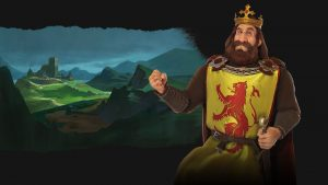 Civilization VI presents Robert, Scotland's king on its Rise and Fall DLC