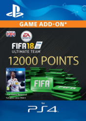 Buy FIFA 18 Ultimate Team 12000 FIFA Points PS4 CD Key