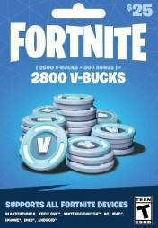 Buy Cheap FORTNITE 2800 V-BUCKS PC CD Key