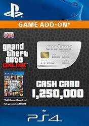 Buy Cheap GTA Online Great White Shark Cash Card 1.250.000$ PS4 CD Key