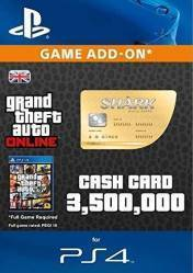 Buy Cheap GTA Online Whale Shark Cash Card 3.500.000$ PS4 CD Key