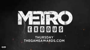 Metro Exodus will show a new trailer on The Game Awards ceremony