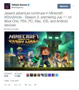 Minecraft confirms the second season of Story Mode, that will be released the 11th of July