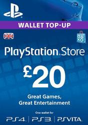 Buy Cheap PlayStation Network Card 20 GBP UK PC CD Key
