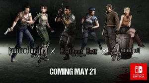 Resident Evil 0,1 and 4 are coming to Switch in May