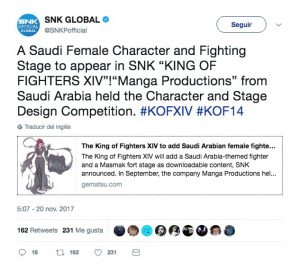 SNK reveals a new character for The King of Fighters XIV
