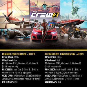 The Crew 2 confirms its PC requirements