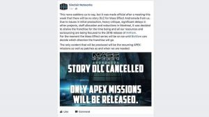 The Mass Effect Andromeda story DLC could've been cancelled