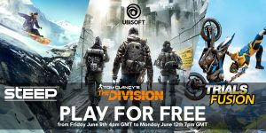This weekend you can play The Division, Steep and Trials Fusion for Free!