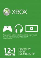 Buy Cheap Xbox LIVE 12 + 1 Months Gold Subscriptions Card PC CD Key